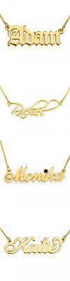 14k gold personalized necklace 14k gold personalized name necklaces gold name necklaces