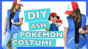 diy ash pokemon halloween costume quick and easy tutorial youtube