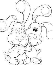 blue clues coloring pages funycoloring