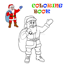 santa claus coloring kids stock vector image 80125166