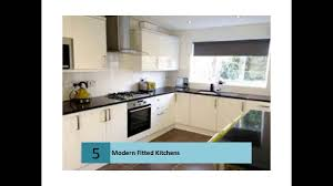 modern fitted kitchen ideas youtube