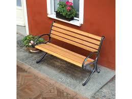 panchine legno panca panchina garden 2 posti 125x65 legno rovere chiaro struttura