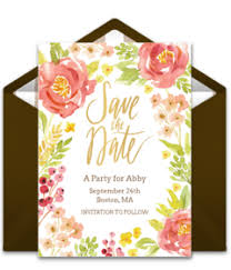 wedding invitations and save the dates free wedding save the dates online punchbowl