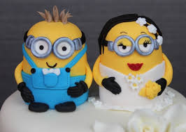 minions cake toppers minion wedding cake topper blomwedding