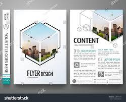 Interior Design Magazine Logo Portfolio Design Template Vectorminimal Brochure Report Stock