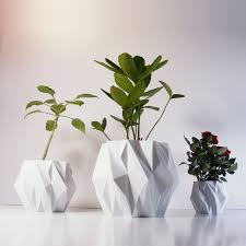 Modern White Planter by Picture Collection Decorative Indoor Planters All Can Download