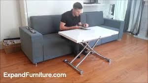 transforming apartment demo wall bed sofa and gloss