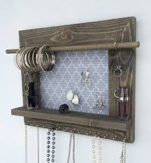 necklace organizer images Jewelry organizer earring holder necklace holder barnwood frame jpg
