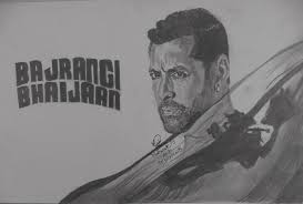 salman khan in bajrangi bhaijaan drawing by mubarak muhammad ali