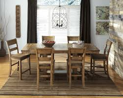 Dining Room Groups Krinden Rect Drm Counter Ext Table U0026 6 Uph Bar Stools D653 124 6