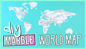 diy wall stickers marble world map youtube
