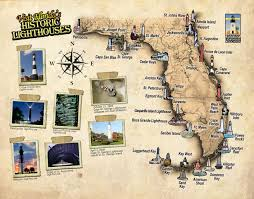 Map Florida Keys by Florida Lighthouse Association Inc Fl Lighthouse Map