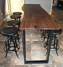 concrete top bar table home design extraordinary long bar tables high table top inside