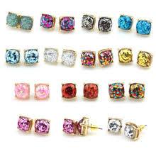 glitter stud earrings online get cheap small gold earrings stud aliexpress