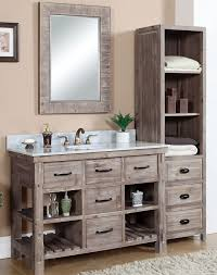 rustic bathroom cabinets vanities accos 48 inch rustic bathroom vanity matte ash grey limestone top