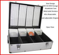 Dvd Storage by 1000 Cd Dvd Silver Aluminum Media Storage Case Mess Free Holder