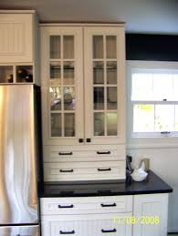 simple kitchen cabinets glass doorskitchen with doors on both