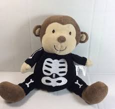 just one you monkey skeleton brown black plush soft toy carters