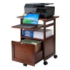 printer and file cabinet piper portable work cart printer stand with pull out key board and