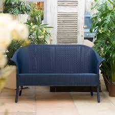 loom sofa buy lloyd loom classic sofa indigo blue genuine lloyd loom