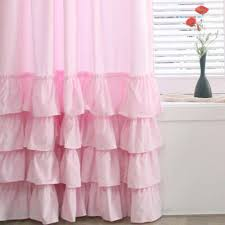 Ruffled Pink Curtains Stylish Ruffled Pink Curtains And Shop Pink Ruffle Curtains On