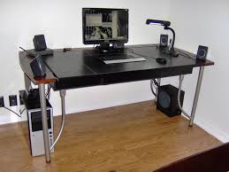 Desk With Cable Management by Show Me Your Computer Desk Wire Management