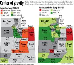 County Map Utah by Utah County U0027ring Counties U0027 Surpass Salt Lake In Population