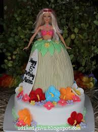 Luau Cake Decorations I Love Doing All Things Crafty Barbie Luau Cake