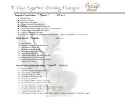 wedding packages lucia wedding packages 2016 ti kaye resort spa