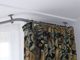 Ceiling Curtain Track by Bay Window Curtain Rod Uk Curtain Pretty Inspiration Ideas