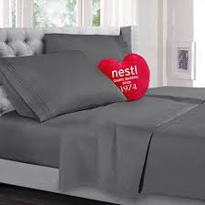 best quality sheets queen size bed sheets set charcoal grey gray highest quality