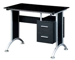 Mainstays Glass Top Desk by Techni Mobili Glass Top Home Office Desk Black Walmart Com