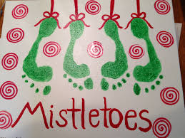 christmas canvas using the kids u0027 footprints we used christmas
