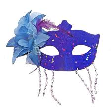 blue masquerade masks buy blue masquerade mask large flower and tassels at simply party