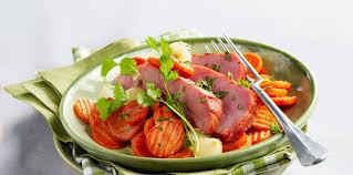 cuisiner un jambonneau jambonneau braisé et carottes au miel facile recette sur cuisine