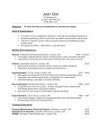 resume format sle for experienced glass janitorial resume sles sidemcicek com impressive also cleaner of