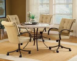 rolling dining room chairs chairs with casters dining room sets luxurious furniture ideas
