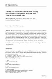 Dissertations In Education College Essays College Application Essays Psychology