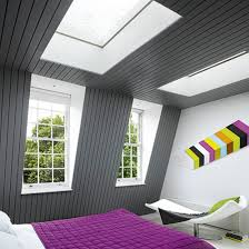 funky teenage attic room design showcasing homely master bed in
