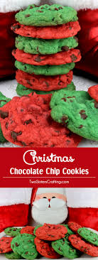 christmas chocolate christmas chocolate chip cookies two crafting