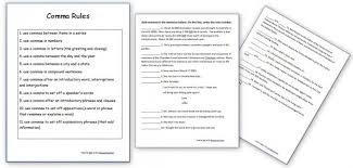4th grade comma worksheets 4th grade printable worksheets