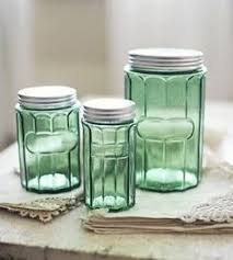 vintage glass canisters kitchen teal glass canisters vintage kitchen canisters by kolorize