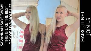 haircut net it s awesome baby savannah s headshave youtube