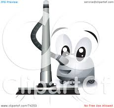 royalty free rf clipart illustration of a friendly vacuum