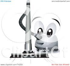 Vacuuming Royalty Free Rf Clipart Illustration Of A Friendly Vacuum