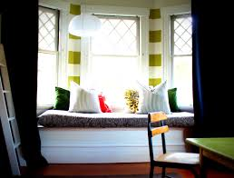 bathroom personable window seating seat bay modern curtains