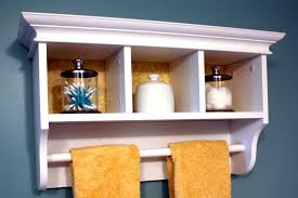 Wood Shelf Gallery Rail by Bathroom Shelf With Towel Bar Home Decorations