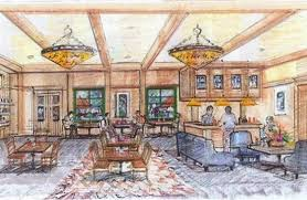 artist sketch of hotel entry picture of aspen lodge u0026 suites