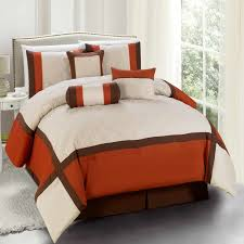burnt orange comforter sets techethe com