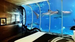 chambre aquarium le design d une chambre d hôtel de luxe sous marine incroyable et